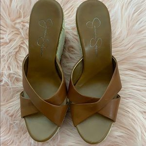 Brown wedges from Jessica Simpson.
